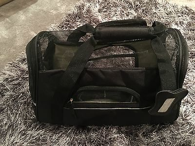 Soft Fabric Airline Cabin Shoulder Carry Bag Dog Cat Brand New In Black