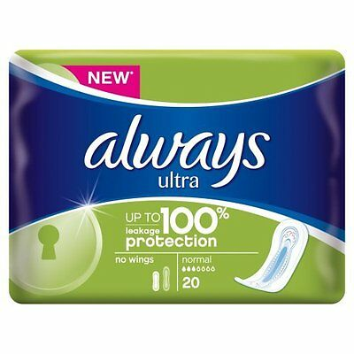 Always Ultra Sanitary Normal Towels, 20 Pads   x 2