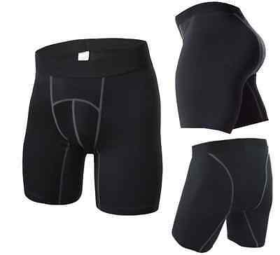Mens Compression Shorts Base layer Armour tight pants Shorts For Sports  - Black