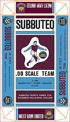 West Ham United Subbuteo Special Hw Coloured Long Box