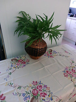 Vintage Embroidered Table Cloth..Stunning & in perfect condition