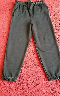 Boys or girls black joggers age 7