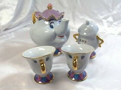 Beauty and the Beast Mrs. Potts and Chip Tea Set Tokyo Disney Resort Limited 200