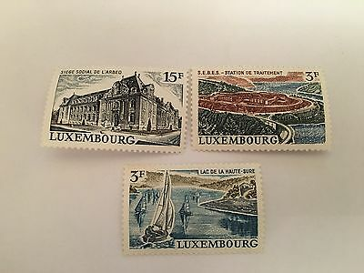 Luxembourg Mnh 1971 Man Made Landscapes
