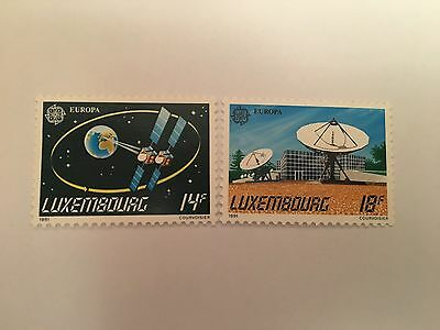 Luxembourg Mnh 1991 Sg 1296-7 Europa Space Satellites