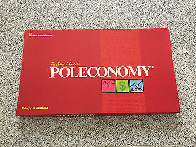 Rare Vintage Poleconomy - The Game of Australia Board game (1980) by John Sands