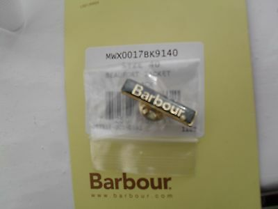Barbour International Official Green & Gold Metal Lapel Pin Badge