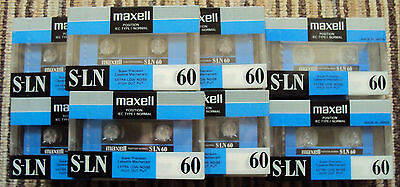 30 x  MAXELL S-LN  60  CASSETTE TAPES