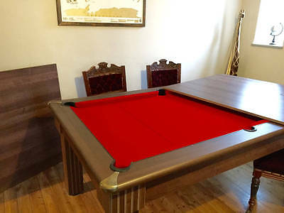 Pool Dining Table - Red felt- cues and balls included