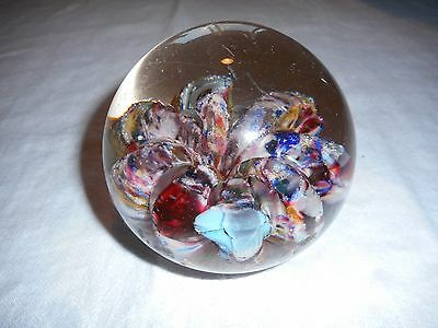 Beautiful Paperweight Colorful Some Scuffs