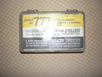 CRATEX KIT 777.  68 Pieces.  DEBURR  SMOOTH POLISH.  RUBBERIZED ABRASIVE.