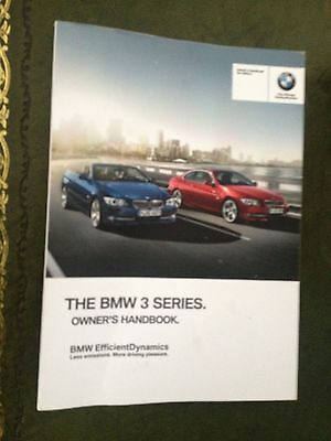 Bmw 3 Series Coupe & Convertible  Handbook  Owners Manual  2012 2014