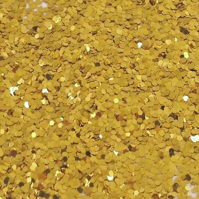 GOLD Glitter Hex Double Sided (3mm flake) 500g Tub