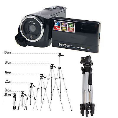 HD 16X Digital LCD Screen Zoom Video Camcorder Camera DV with Tripod US