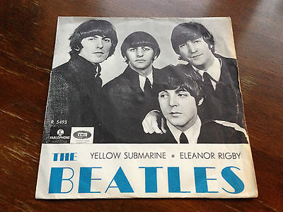 """The Beatles Yellow submarine 1966 SCARCE Sweden BLUE LETTERS ps 45 7"""""""