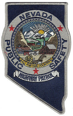 "Nevada Highway Patrol Shoulder Patch - 5 3/4"" tall by 3 5/8"" wide  - NEW"