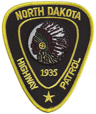 "North Dakota Highway Patrol Shoulder Patch - 4 1/2"" tall by 3 3/4"" wide  - NEW"