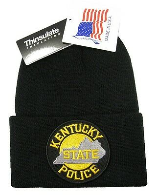 Kentucky State Police Patch Knit Cap - 40g Thinsulate Insulation - Black