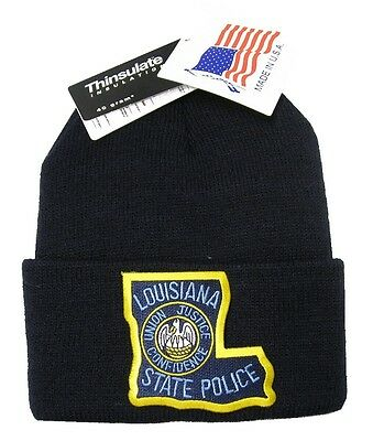 Louisiana State Police Patch Knit Cap - 40g Thinsulate Insulation - Black