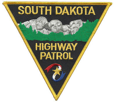 """South Dakota Highway Patrol Shoulder Patch - 5 3/8"""" tall by 4 7/8"""" wide  - NEW"""