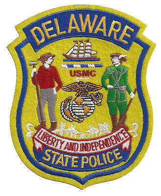 Delaware State Police USMC Shoulder Patch - United States Marine Corps - New