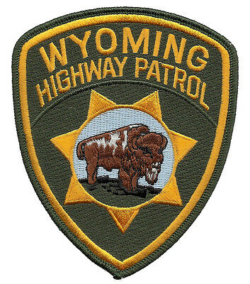 "Wyoming Highway Patrol Shoulder Patch - 4 3/4"" tall by 3 7/8"" wide - NEW"