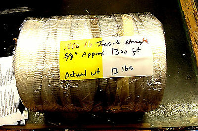 """5/8"""" x 1300 feet'  1800 Lb test Polyester Mule Tape / Pull Tape (UNMARKED)"""