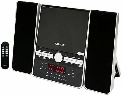 Craig Vertical CD Shelf System with AM/FM Stereo Radio and Dual Alarm Clock, 3-P