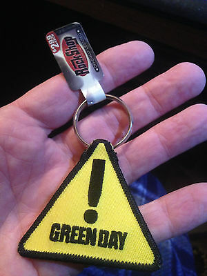 Green Day---New Caution Keychain---New Tag Still Attached !