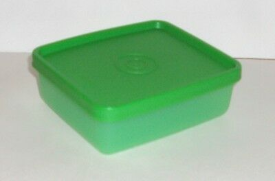 New Tupperware Mini Square Aways Container Green