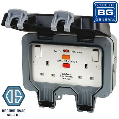 BG Nexus WP22RCD IP66 2Gang Weatherproof Outdoor RCD Double Switched Socket 13A
