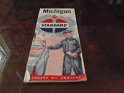 1950's Standard Oil Company Chicago Road Map Vintage