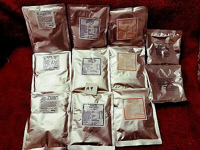 A9 Fishing,Camping,Hiking,ready meals,Army Ration Packs,11 piece.