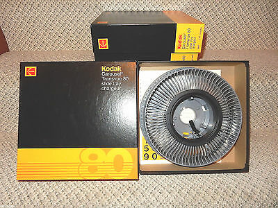 One  KODAK Carousel Transvue 80 Slide Tray Used excellent condition w/ box