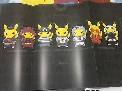 Pokemon Card Game Team Rocket Pikachu Harf Play Mat 7 types Complete set