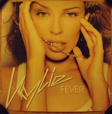 """Kylie Minogue Fever 12"""" x 12"""" Promo Double-sided Flat 2002 Capitol EMI Records"""