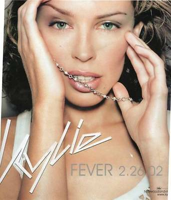 """Kylie Minogue Fever 10"""" x 10"""" Promo Window Cling 2002 EMI Records Hollywood&vine"""