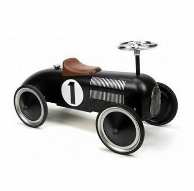 Black Retro Racer Ride On Car - FREE Delivery Available