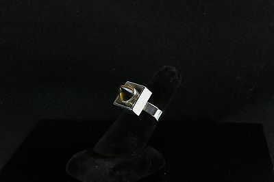 Danish silver ring made by N.E.From with Tiger Eye