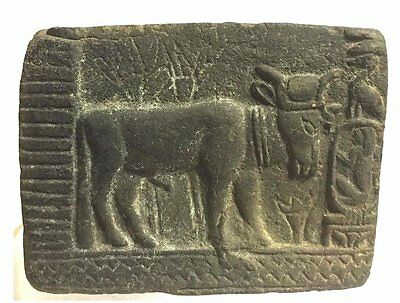 Ancient Egyptian Sculptural Relief, Depicting Bull