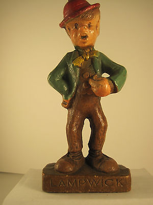 "Vintage Disney Pinocchio  Lampwick syroco  figure 1940's  5-1/2"" tall Mint"