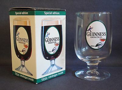 New Boxed Special Edition Guinness Gilroy Stemmed Goblet Glass Beer Pub Home Bar