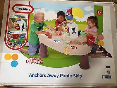 Little Tikes Anchors Away Pirate Ship Kids Childs Water Play Table BRAND NEW