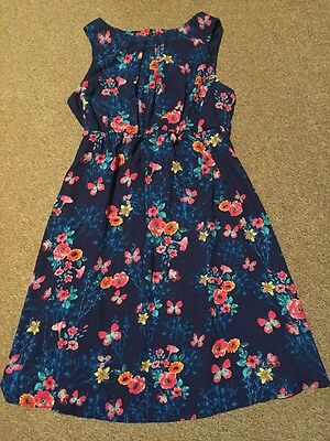 Ladies Blue Floral Lined Maternity Dress From New Look Size 10