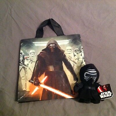 Star Wars Official The Force Awakens Reusable Tesco Bag + Kylo Ren Plush Toy
