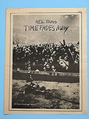 "Neil Young 11X14"" ""Time Fades Away"" Print Ad Original 1973"
