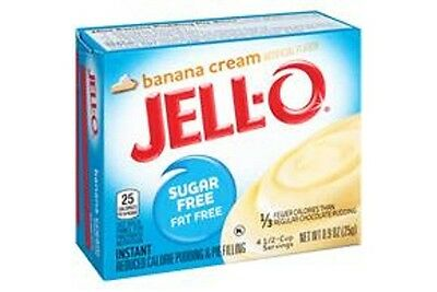 Jello Sugar Free Instant Banana Cream Pudding 25g