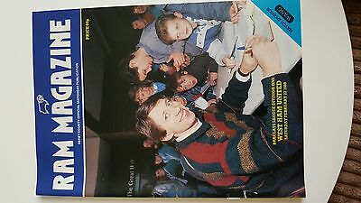 football programme..DERBY v WESTHAM..Div1..27/02/1988
