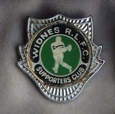 Rare Widnes RLFC Rugby League Football Supporters Club Badge 1980's Vikings Chem