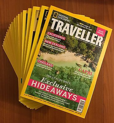 National Geographic Traveller UK Magazines (22 issues from May 2014 - Aug 2016)